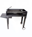 megamaster 1000 deluxe patio black charcoal braai BBQ grill