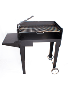 Megamaster 800 mini patio braai grill BBQ charcoal wood