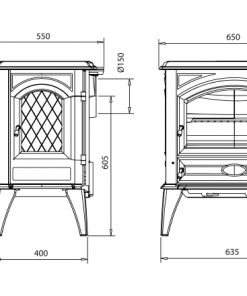 Dovre – Classic 640 Series Fireplace 2