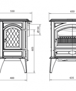 Dovre – Classic 640 Series Fireplace 3