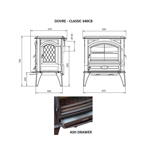Dovre – Classic 640 Series Fireplace 5