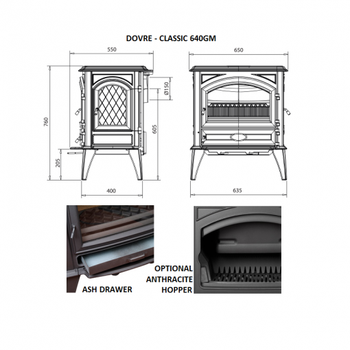 Dovre – Classic 640 Series Fireplace 7