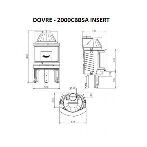 Dovre 2000 CB BSA built-in with ashtray fireplace 7