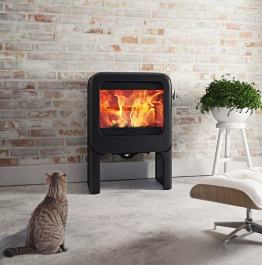 Dovre Rock 350 on tablet fireplace 1