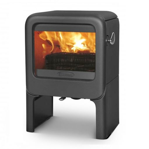 Dovre Rock 350 on tablet fireplace 2