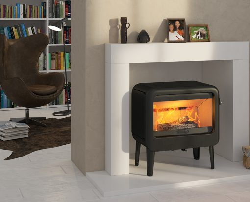 Dovre Rock 500 on legs Fireplace 2
