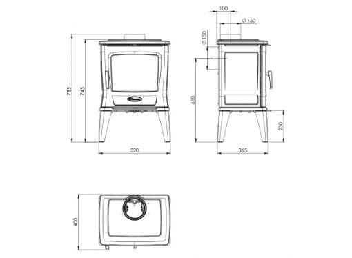 Dovre TAI35 wood-burning fireplace 2