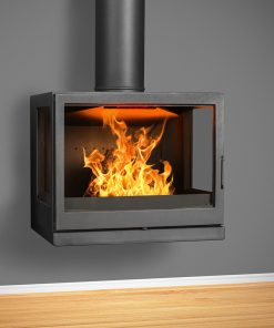 Hydrofire Bavorov Wall Mounted Side Glass fireplace