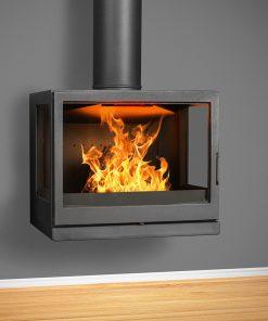 Hydrofire Bavorov Wall Mounted Side Glass fireplace