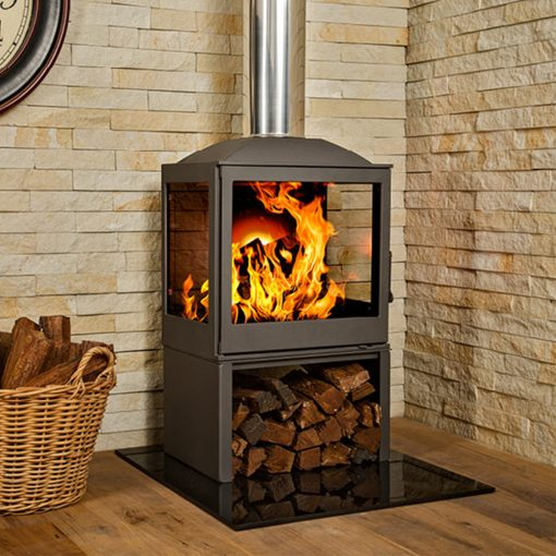 Hydrofire L51 LR Nova Side Glass Fireplace 1