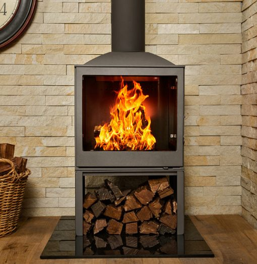 Hydrofire L51 LR Nova Side Glass Fireplace 2