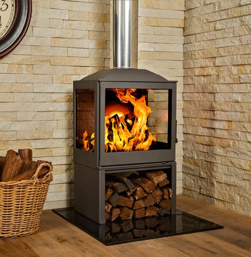 Hydrofire L51 LR Nova Side Glass Fireplace 3