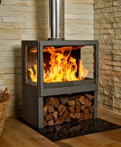 Hydrofire L71 LR Bavorov Side Glass Fireplace 1