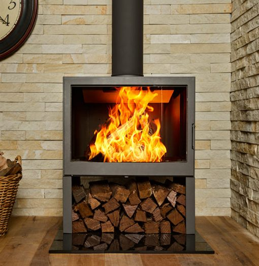 Hydrofire L71 LR Bavorov Side Glass Fireplace 2