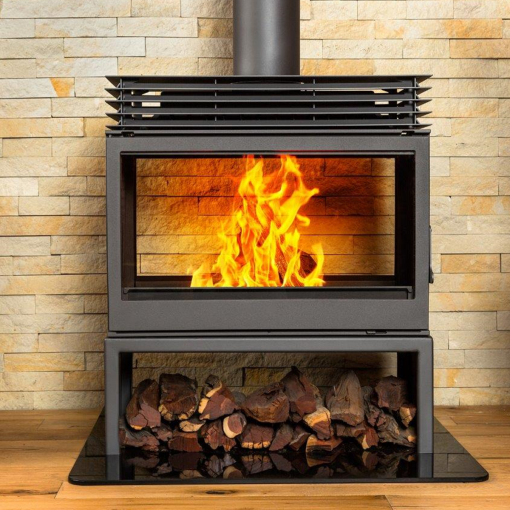 Hydrofire L9 DF Titan free standing Double sided fireplace