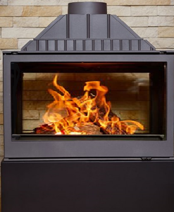Hydrofire L9 DF Titan insert Double Sided Fireplace 1