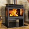 Hydrofire L91 Titan free standing side glass fireplace