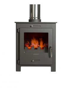 Hydrofire Nero Lux Anthracite grey Fireplace 1
