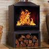 Hydrofire Nova Shadow Black Glass Fireplace 1