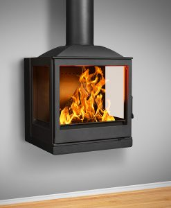 Hydrofire Nova Wall Mounted side glass fireplace