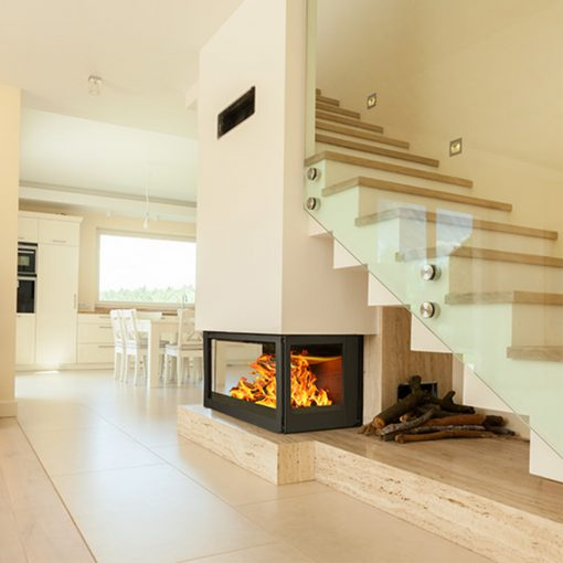 Hydrofire Orleans Side Glass Fireplace 1