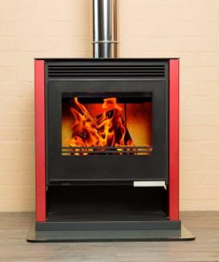 Hydrofire Rubin Lux Black Glass Fireplace 1