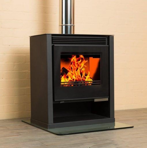 Hydrofire Rubin Lux Black Glass Fireplace 2